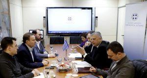 Συνάντηση της Διοίκησης του ΟΛΠ με τον Περιφερειάρχη Αττικής Γ. Πατούλη για την επέκταση του σταθμού κρουαζιέρας στον λιμένα Πειραιώς