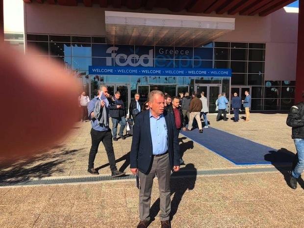 Ο κ. Πέτρος Φιλίππου από την επίσκεψή του στην FoodExpo 2019