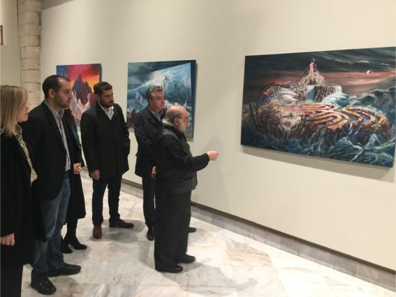 Πλήθος κόσμου στα εγκαίνια της έκθεσης ζωγραφικής του Ρουσσέτου Παναγιωτάκη