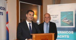 ο Υπουργός Τουρισμού κ. Χάρης Θεοχάρης και ο Πρόεδρος της εταιρείας, κ. Γιώργος Βερνίκος