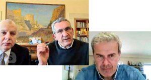 Τηλεδιάσκεψη Γ. Γ. ΕΟΤ Δημήτρη Φραγκάκη με Γιώργο Χατζημάρκο και Αντώνη Καμπουράκη