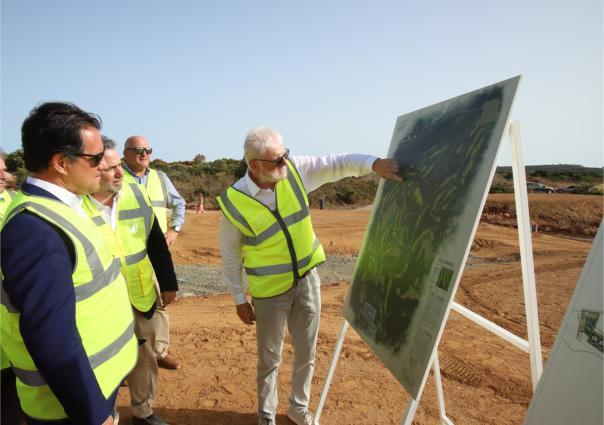 Επίσκεψη του Υπουργού Ανάπτυξης και Επενδύσεων στις νέες περιοχές της Costa Navarino