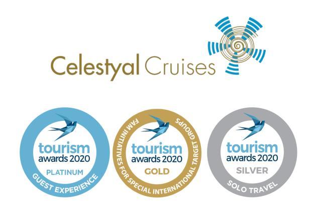 Η Celestyal Cruises συνεχίζει να κατακτά υψηλές διακρίσεις για 7η συνεχόμενη χρονιά στα Tourism Awards 2020