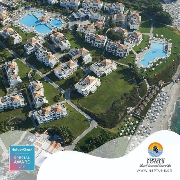 Το Neptune Hotels διακρίθηκε με το HolidayCheck Special Award 2021