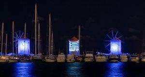 Πρωτοβουλία της BoatsAdvisor Hub&Events και Kanakis AVisualGroup η φωταγώγηση των Μύλων της Ρόδου