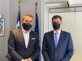 Συνάντηση Hellenic Seaplanes με τον Υπουργό Τουρισμού κ. Χάρη Θεοχάρη