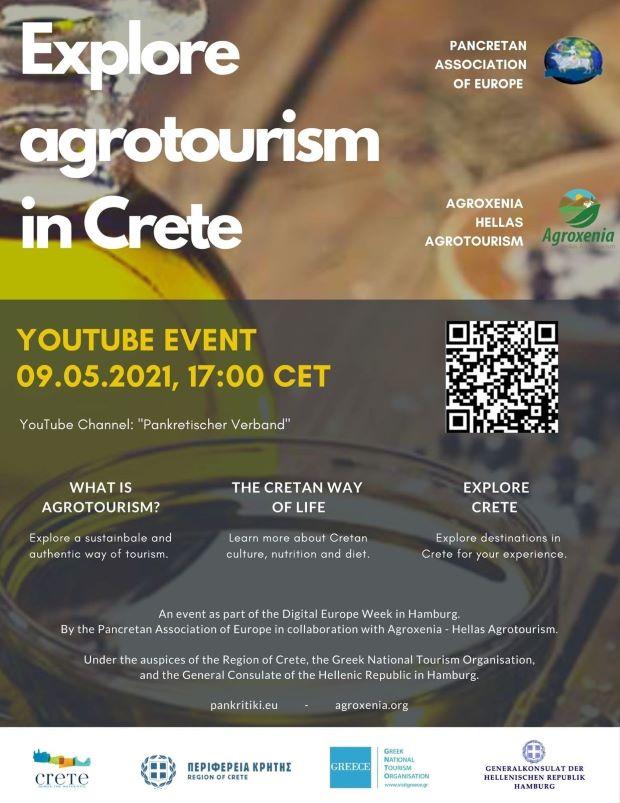 Ο «Αγροτουρισμός στην Κρήτη» με τη συμμετοχή 11 εξεχόντων ομιλητών και των απανταχού της Ευρώπης Κρητικών