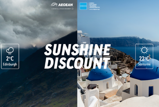 Greek National Tourism Organisation and AEGEAN Airlines Sunshine Discount