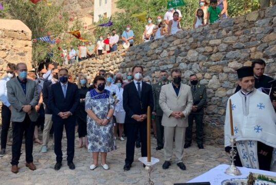 Παρουσία της Υπουργού Πολιτισμού και Αθλητισμού Λίνας Μενδώνη στην επέτειο απελευθέρωσης της Μονεμβασίας