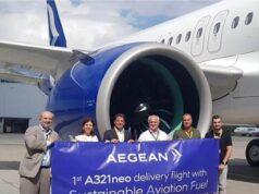 Η AEGEAN παρέλαβε ένα ακόμη αεροσκάφος Α321neo και πραγματοποίησε την πρώτη δοκιμαστική πτήση με βιώσιμα αεροπορικά καύσιμα (SAF) στην Ελλάδα