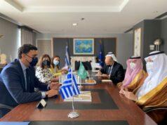 Συνάντηση Υπουργού Τουρισμού Βασίλη Κικίλια με τον Υπουργό Επενδύσεων της Σαουδικής Αραβίας